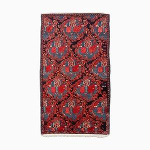 Middle East Floral Light Red Runner Rug, 1940s