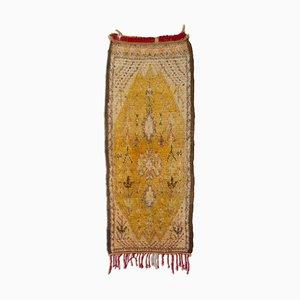Floraler Marokkanischer Berber Teppich mit Baum des Lebens & Medaillon, 1950er