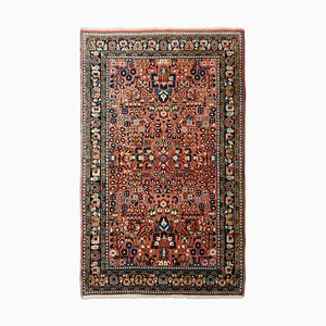 Middle East Floral Dusty Pink Rug with Border