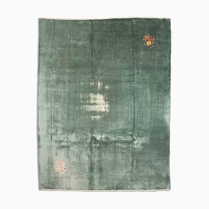 Chinese Light Green Carpet with Motif, 1940s