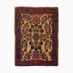 Floraler Arabischer Middle East Teppich in Gelb-Beige mit Bordüre & Medallion