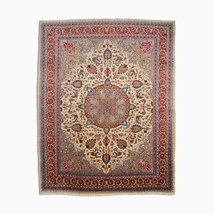 Floraler orientalischer Middle East Teppich mit Medaillon & Bordüre, 1950er