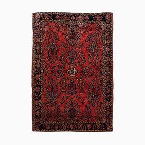 Antiker orientalischer floraler Teppich mit Border & zentralem Medaillon