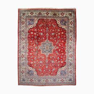 Rostiger Roter orientalischer Teppich mit Medaillon & Bordüre, 1960er