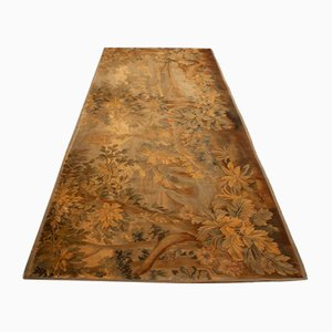 Antiker Beigefarbiger Wandteppich mit Motiv