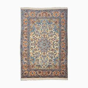 Orientbeige Teppich mit Medaillon & Bordüre, 1980er