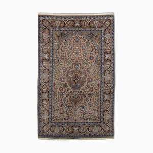Middle East Light Brown Rug with Medallion & Border, 1970s