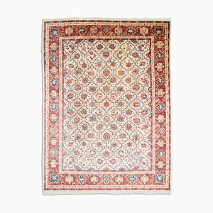 Middle East Beige Rug with Border & Garden of Paradise Pattern, 1960s