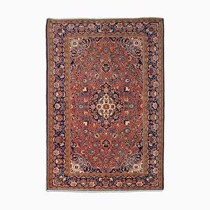 Floraler Rostfarbener Middle East Teppich mit Border und Medaillon, 1920er