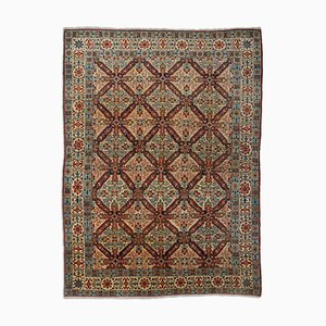 Middle East Beige Rug with Border, 1950s