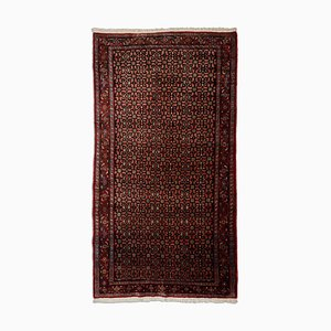 Middle East Geometric Rusty Red Rug with Border, 1950s