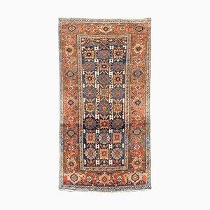 Antiker orientalischer geometrischer Teppich mit Border