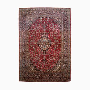 Middle East Wine Red Rug with Border & Medallion, 1920s