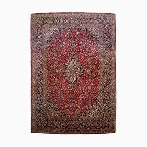 Orientalischer weinroter Teppich mit Borde & Medaillon, 1920er
