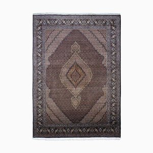 Middle East Geometric Black Rug with Border