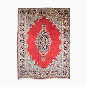 Middle East Floral Light Red Rug with Border and Medallion, 1950s
