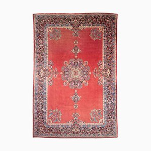 Middle East Floral Wine Red with Border and Medallion, 1940s