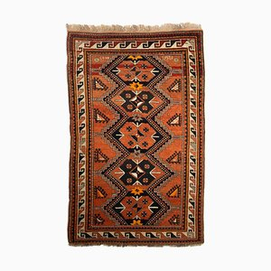 Geometric Rusty Red Kazak Rug with Border, 1930s