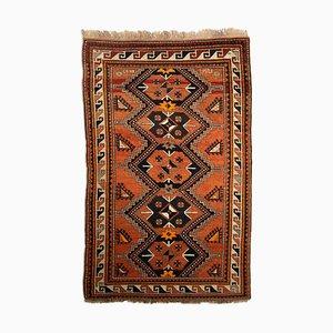 Geometrischer Rusty Red Kazak Teppich mit Border, 1930er