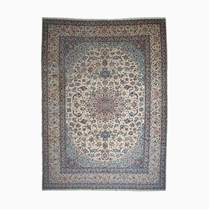 Floral Beige Nain Rug with Border and Medallion