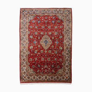 Floral Sarouk Rug with Border and Medallion