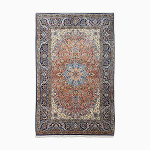 Middle East Floral Dusty Pink Rug with Border and Medallion