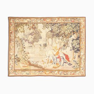 Antique Floral Tapestry with Motif and Border