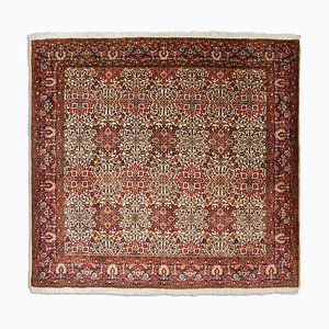 Middle East Floral Dark Red Rug with Border
