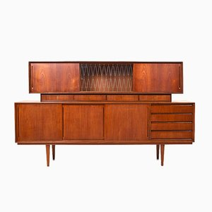 Mid-Century Danish Teak Sideboard with Top-Cabinet, 1950s