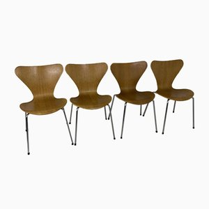 Vintage 3107 Dining Chairs by Arne Jacobsen for Fritz Hansen, 1973, Set of 4