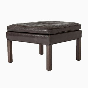 Mid-Century Danish Rosewood & Leather Ottoman by Børge Mogensen for Fredericia
