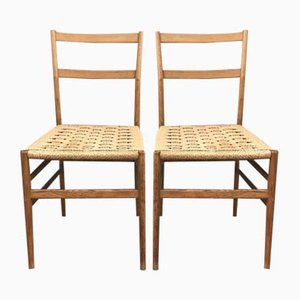 Chaises de Salon Modèle Leggera par Gio Ponti pour Cassina, 1950s, Set de 2