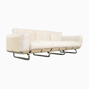 White Senzafine Sofa by Eleonore Peduzzi Riva for Zanotta, Italy, 1960s
