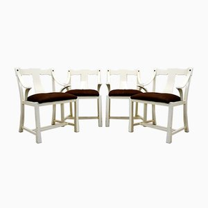 Italian Painted Wooden Dining Chairs, 1960s, Set of 4