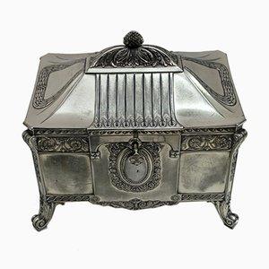Boîte à Bijoux Antique Art Nouveau en Plaqué Argent de WMF, Allemagne