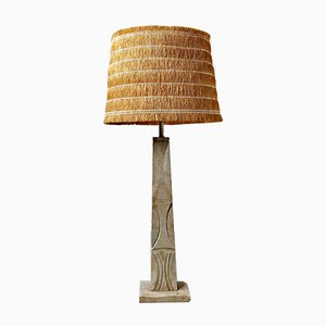 Italian Travertine Table Lamp, 1970s