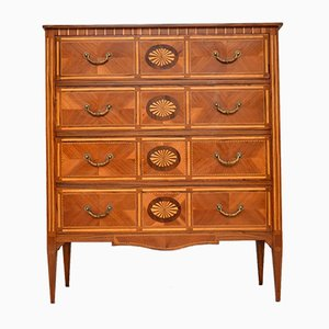 Neoclassical Style Inlaid Marquetry Chest of Drawers, 1950s