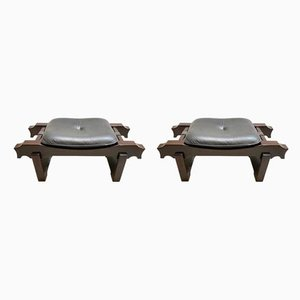 Mid-Century Model Ussaro Ottomans by Luciano Frigerio, Set of 2