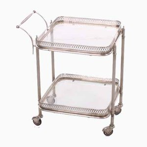 Silver Drinks Trolley from Maison Jansen, Paris, 1950s