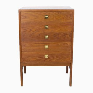 Mid-Century Danish Teak Chest of Drawers by Ole Gjerløv-Knudsen & Torben Lind for France & Søn / France & Daverkosen, 1960s