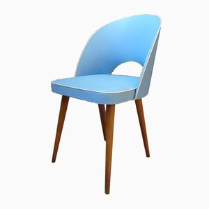 Mid-Century German Light Blue Cocktail Club Chair, 1950s