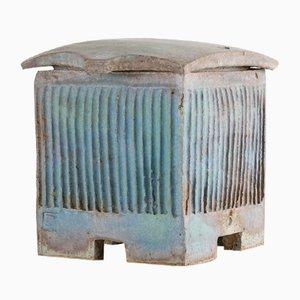 French Glazed Terracotta Pot, 1960s