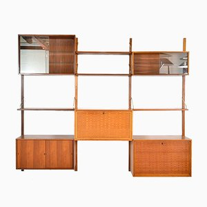 Mid-Century Danish Teak Modular Royal System Wall Unit Shelving by Poul Cadovius for Cadovius, Set of 13