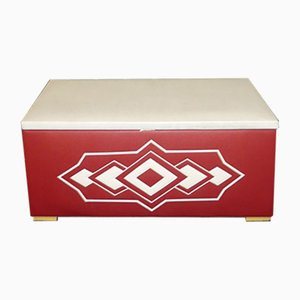 Vintage Red and White Laundry Box, 1970s