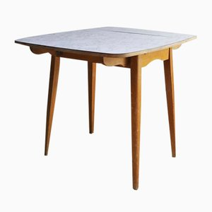 Mid-Century English Formica Drop-Leaf Dining Table, 1960s