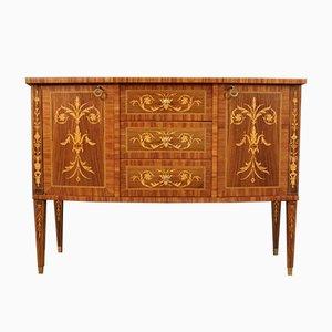 Italian Louis XVI Style Inlaid Rosewood Sideboard, 1970s