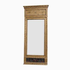 Gustavianischer Spiegel mit Gouache-Motiv, 1780er