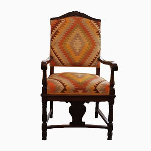Antique Upholstered Armchair
