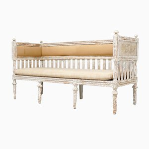 Antique Swedish Painted Bench