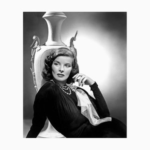 Katharine Hepburn Archival Pigment Print Framed in Black by Everett Collection
